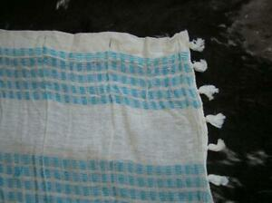 Urban Outfitters UO Home Madras Cotton Bohemian Striped Shower Curtain