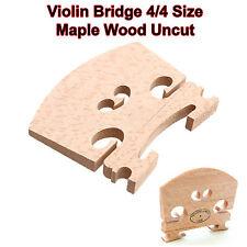 Violin Tamaño 4/4, Madera de Arce, puente, sin cortar, música pieza de repuesto, violín, cello