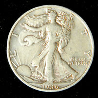 1936-S Walking Liberty Half Dollar , Very Fine or Better , 90% Silver US Coin