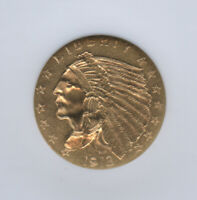 1913 $2.50 Indian Gold Quarter Eagle NGC MS 62 Excellent Eye Appeal Great Type