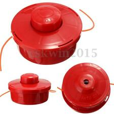 Universal Nylon Brush Mower Bump Spool Grass Trimmer Head w/2.4mm Cut Red Rope
