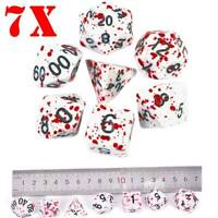 7PCS/SET Bloody Polyhedral Dices Die for Dungeons Dragons DND RPG Board Games