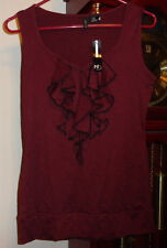 M NWT Ladies Womens ND New Directions Shirt Blouse Sleeveless Knit Top Purple