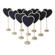 Cute Wooden Craft Heart Mini  Blackboard Chalk Boards Wedding Potted Decor 10pcs