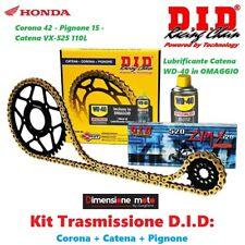 100304 - Kit Trasmissione DID Corona+Catena+Pign per HONDA Hornet 600 dal 1998 >