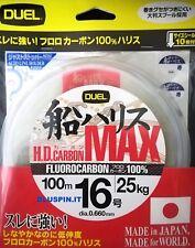 DUEL HD CARBON MAX  FLUOROCARBON 100%  100m dia.16 0.660mm 25kg JAPAN