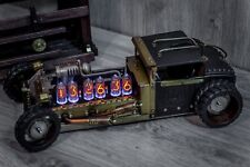 UNIQUE IN-8 Handmade Nixie Clock Steampunk ROADSTER || IN-18 Z568M style