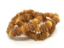 Lot 3 Natural Baltic Amber Raw rough unpolished healing bracelet set 33 g #3457