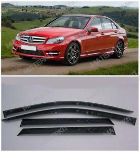 For Mercedes-Benz C w204 | 2006-2014 Deflectors Windows Visors Rain Vent Guard
