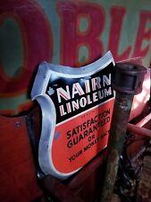 1940s Nairn Linoleum Consolite Fremont Ohio Howard Zink Co Vintage Shield Sign