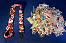 Disney World 25 Pin Trading Lot Lanyard Starter Set Black Minnie Mouse Bows Cute