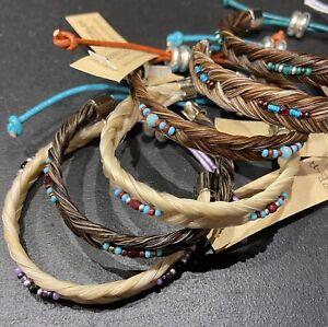 Western Horse Hair Bracelet Cowgirl Horse Adjustable