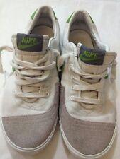 NIKE - Sneakers - colore bianco grigio verde - numero 38,5 - cm 24,5 - USATE