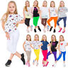 Girls Capri Soft Cotton Leggings Kids Stretchy 3/4 Pants Age 2-13 Years CHILD34