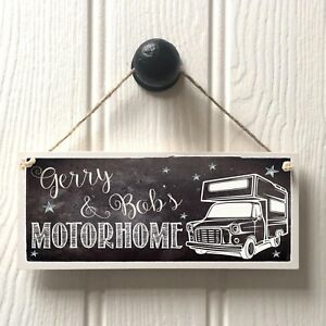 Personalised Motorhome Name Sign MOTORHOME CAMPER plaque Home From Home Van