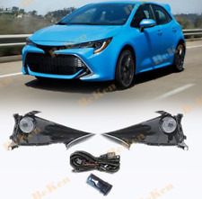 Front fog lamp Kit For 19-21 Toyota Corolla Hatchback w/Bulb Switch Cable Bezel