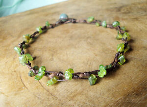 Peridot anklets,Stone anklets,Green anklets,Women anklets
