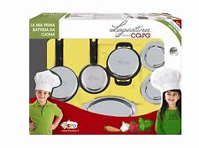 Kitchen Pretend Play Toy Faro Utensils Metal Cooking Set Chef Ages 3+ Girls Gift