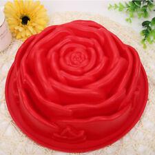 Silicone Large  Rose Design Cake Baking Tin Mold Mould Pan 24x8.5cm