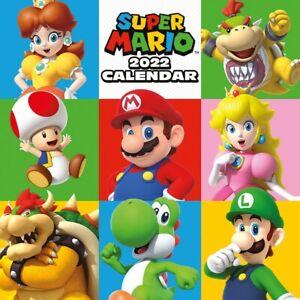 Super Mario Square Calendar 2022