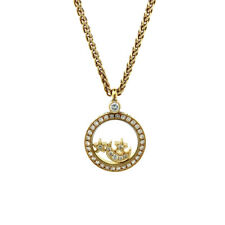 Chopard Moon and Stars 18k Yellow Gold Diamond Pendant