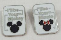 Disney Trading Pin Set of 2 I'll Be Your Mickey and I'll be Your Minnie