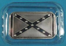 Confederate Flag 1 Troy Oz. .999 Fine Silver Bar One Ounce Bullion Sealed Bar