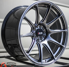 XXR 527 19X9.75 5x114 +38 Chromium Black Rims Aggressive Fits Accord Rsx Tiburon