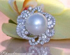 Unbehandelte Ringe mit Perlen für Damen (16,8 mm Ø) 53