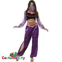 Womens Ladies Arabian Princess Jasmine Belly Dancer Genie Fancy Dress Costume