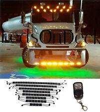 LED Wireless 16pc SemiTruck UnderGlow Neon Lights Kit Peterbilt Kentworth Mack