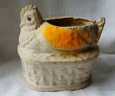 Vintage Easter Collectable Paper Mache Chicken Retro Early Find