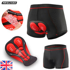 Arsuxeo 5D Gel Padded Cycling Shorts Bicycle Bike Breathable Quick Dry Pants MTB