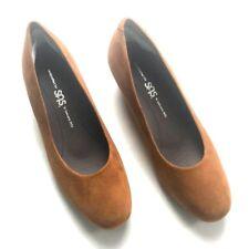 SAS Women Size 6.5M EU 36.5 Brown Leather Suede Comfort Walking Heel Shoes Italy