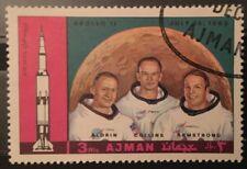 NASA / SPACE STAMP LOT Apollo 11 13 Qu'aiti San Arabia Ajman Bostok Space...