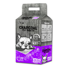 Absorb Plus Charcoal Pet Sheets 35 X 45cm (100 Pack) Dog Puppy Pads Pee Wee