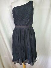 nwt Club Monaco Frida Shift Dress Sz 8 Solid Black One Shoulder Back Cut-Out