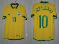 Brazil 2006 2007 2008 Ronaldinho Home Nike Shirt Jersey Trikot Size adults S