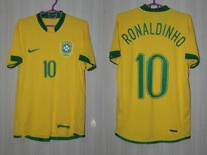 Brazil Brasil 2006 2007 2008 Ronaldinho Home Nike Shirt Jersey Trikot Size S