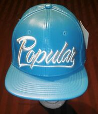 New NWT ! popular demand faux leather carolina blue strap back hat