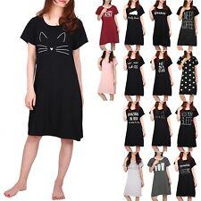 Women Short Sleeve Sleep Shirt Tee Pajama Top Sleep Dress Nightgown Nightshirt