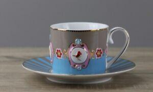 Pip Home Love Birds Kaffeetasse Tasse mit Unterteller/Untertasse Ø ca16,2 cm TOP