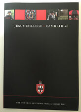 Cambridge University 2007 Jesus College 103rd Annual Report book yearbook