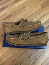 Polo Ralph Lauren Merton Snuff Roughout Suede Boat Shoes Men's Size 10