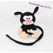 Peluche bébé noir Marsupilami AJENA NOUNOURS 16 cm assis (VI-4056/MO3354)