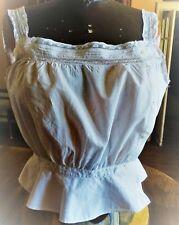 Cache corset XIXè  à petits plis et dentelle