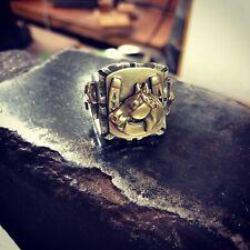 Fritch Bros Vintage Mexican Biker Ring, Souvenir Horse Shoe Ring Size 11