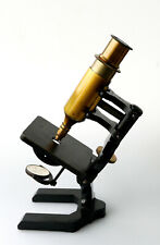 R. Krügelstein Berlin Messing Mikroskop Nr. 1009 um 1890-1900 schöner Zustand