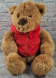 "GUND LORD & TAYLOR Brown Teddy Bear Stuffed Animal Large 14"" PLUSH TOY w/ JACKET"
