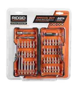 New RIDGID Drilling Driving 43 Piece Bit Set with Hard Case AC10D43